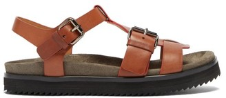 Church's Britney Buckle-strap Leather Sandals - Tan