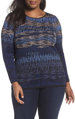 Nic+Zoe Verona Jacquard Pullover (Plus Size)
