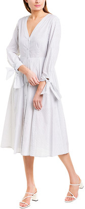 BCBGMAXAZRIA Button-Down Midi Dress