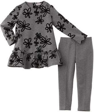 Il Gufo Flocked 2Pc Tunic & Legging Set
