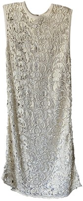 Pinko White Lace Dress for Women