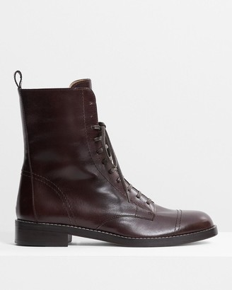 Theory Laced Boot in Leather