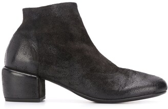 Marsèll Textured Side Zip Ankle Boots