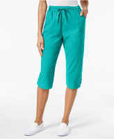 Karen Scott Drawstring Capri Pants, Only at Macy's
