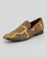 Donald J Pliner Pascow Antique Beaded Loafer, Gold
