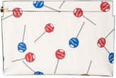 Loewe Lollipops T print clutch - women - Leather - One Size