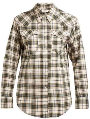 Etoile Isabel Marant Divana Western Check Cotton Shirt - Womens - Yellow Multi