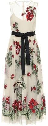 RED Valentino Floral point d'esprit tulle gown