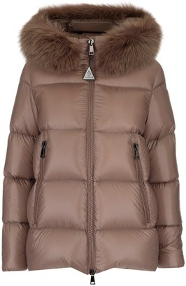 Moncler Fur Trimmed Hooded Down Jacket