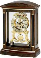 Bulova Valeria Wood Pendulum Skeleton Mantel Clock - B2026