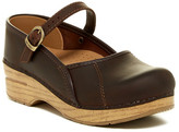 Dansko Marcelle Woodgrain Wedge Mary Jane