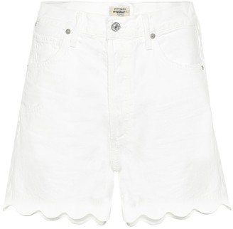 Citizens of Humanity Audrey Scallop denim shorts