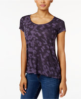 Calvin Klein Jeans Printed Split-Back Top