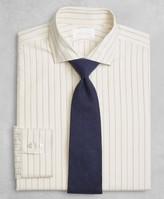 Brooks Brothers Golden Fleece Regent Fitted Dress Shirt, English Collar Dobby Alternating Triple Stripe