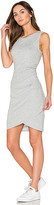 Bobi Supreme Jersey Ruched Bodycon Dress in Gray. - size L (also in M,S,XS)