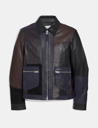 Coach Pieced Leather Jacket