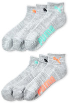 Puma 6-Pack Quarter Crew Socks