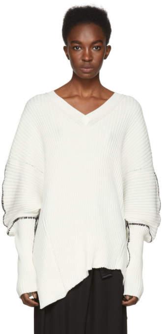 Ann Demeulemeester Off-White Stitch Sweater