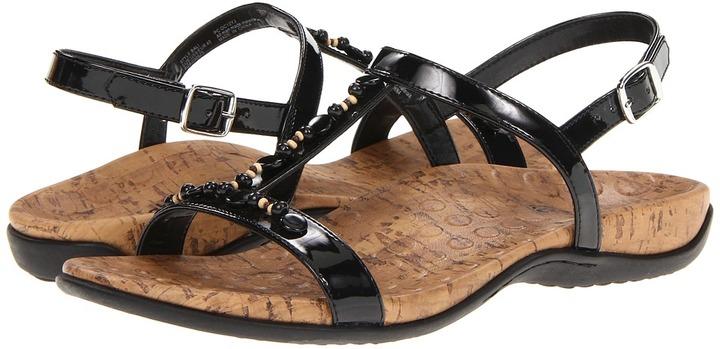 Orthaheel Bali Slide w/ Strap (Black) - Footwear