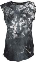 Balmain Wolf Print Sleeveless T-shirt