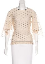 Kimora Lee Simmons Open Back Abstract Patterned Top