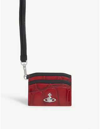 Vivienne Westwood Lanyard leather card holder