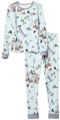 BedHead Pajamas Kids Long Sleeve Snug Fit Pajama Set (Toddler/Little Kids/Big Kids) (Blue Sky Village) Kid's Pajama Sets