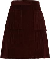A.P.C. Solene patch-pocket cotton-corduroy skirt