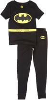 Intimo Black & Yellow Batman Pajama Set - Boys