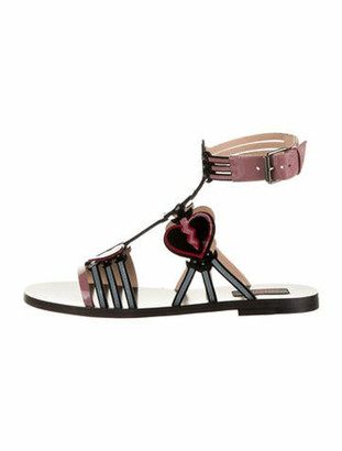 Valentino 2017 Love Blade Gladiator Sandals Purple