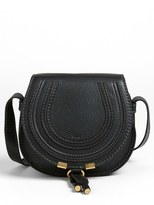 Chloé 'Mini Marcie' Leather Crossbody Bag - White