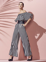 New York & Co. Strapless Jumpsuit - Stripe