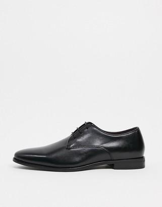Walk London alfie lace up derby in black leather