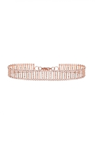 Quiz Rose Gold Diamante Ladder Bracelet