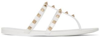 Valentino White Garavani Rockstud Jelly Sandals