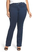 Melissa McCarthy Stretch Slim Bootcut Jeans (Inkwell) (Plus Size)