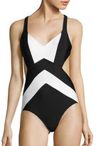 Michael Kors Regatta X-Back One-Piece Swimsuit