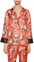 For Restless Sleepers Printed Silk Pajama Blouse