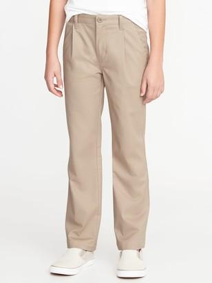 Old Navy Uniform Built-In Flex Pleated Straight Khakis for Boys