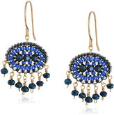 Miguel Ases Small Oval Swarovski Drop Earrings
