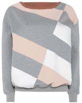 Stella McCartney grey boat neck sweatshirt