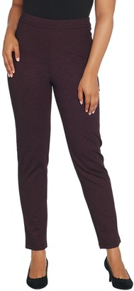 Joan Rivers Classics Collection Joan Rivers Petite Length Herringbone Pull-On Ankle Pants
