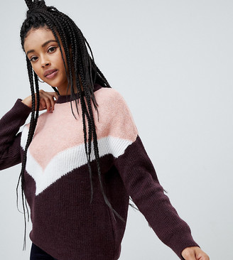 Pimkie colourblock knitted jumper-Red