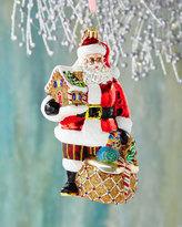 Christopher Radko Gingerbread Jubilee Santa Ornament