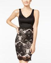 Sequin Hearts Juniors' Cutout Lace Bodycon Dress