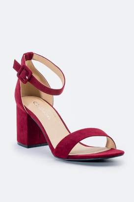 Chinese Laundry Cl By Laundry Jody Suede Block Heel - Wine