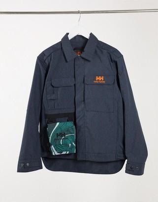 Helly Hansen Heritage unisex carpenter jacket in navy denim