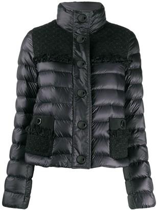 Moncler Tweed Panel Puffer Jacket