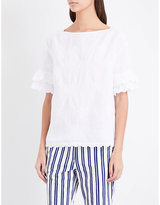 MiH Jeans Flared-cuffs linen and cotton-blend top