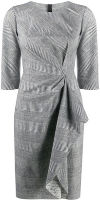 Paule Ka Side Knot Checked Dress